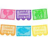 Cinco de Mayo Decorations Viva Fiesta Neon Plastic Picado Image