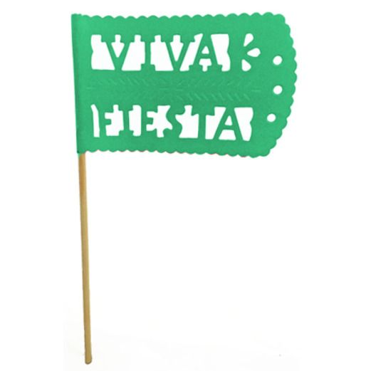 Cinco de Mayo Decorations Green Fiesta Flag Image