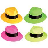 Hats & Headwear Neon Plastic Gangster Hat Image