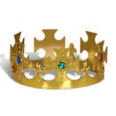 Mardi Gras Hats & Headwear Gold Plastic Kings Crown Image