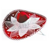 Cinco de Mayo Hats & Headwear Red and White Mariachi Sombrero Image