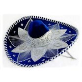 Cinco de Mayo Hats & Headwear Royal Blue and White Mariachi Sombrero Image