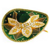 Cinco de Mayo Hats & Headwear Dark Green and Gold Mariachi Sombrero Image