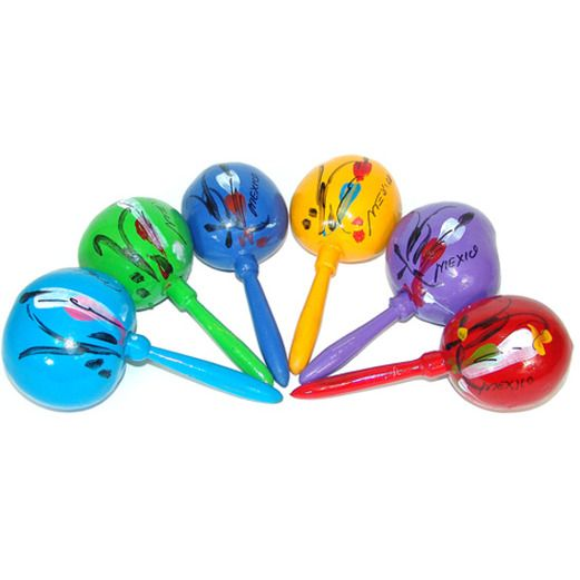 Large Maracas Assorted Colors