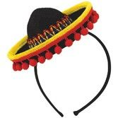 Fiesta Party Wear Sombrero with Fringe Headband Image