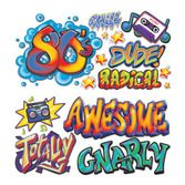 80s Decorations 80s Graffiti Props Image