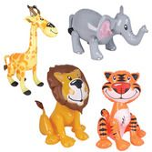 Jungle & Safari Favors & Prizes Zoo Animal Inflate Image