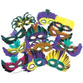Mardi Gras Party Wear Mardi Gras Feather Mask Assortment Image