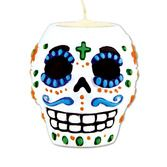 Table Accessories / Centerpieces Day of the Dead Male Tea Light Holder Image