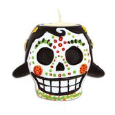 Day of the Dead Decorations Day of The Dead Female Tea Light Holder Image