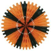 Halloween Decorations Orange-Black Tissue Fan Image