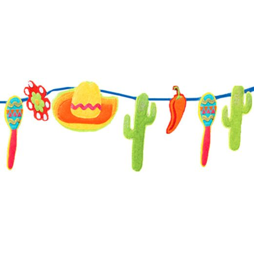 Cinco de Mayo Decorations Fiesta Felt Garland Image