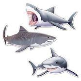 Luau Decorations Shark Cutouts Image