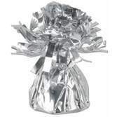 New Years Balloons Silver Metallic Balloon Weight Image