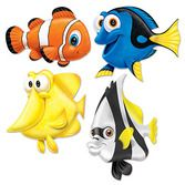 Luau Decorations Under the Sea Fish Cutouts Image
