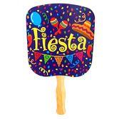 Cinco de Mayo Favors & Prizes Fiesta Print Hand Fan Image