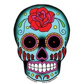 Day of the Dead Favors & Prizes Rose Sugar Skull Sticker Image