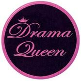 Birthday Party Favors & Prizes Drama Queen Button Image