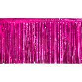 Valentine's Day Decorations Hot Pink Metallic Fringe Drape Image