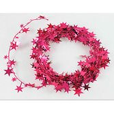 Valentine's Day Decorations Cerise Star Wire Garland Image