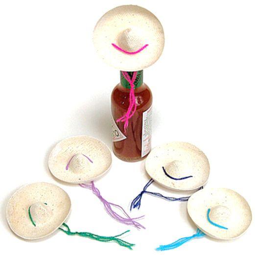 Cinco de Mayo Decorations Mini Straw Sombrero Image