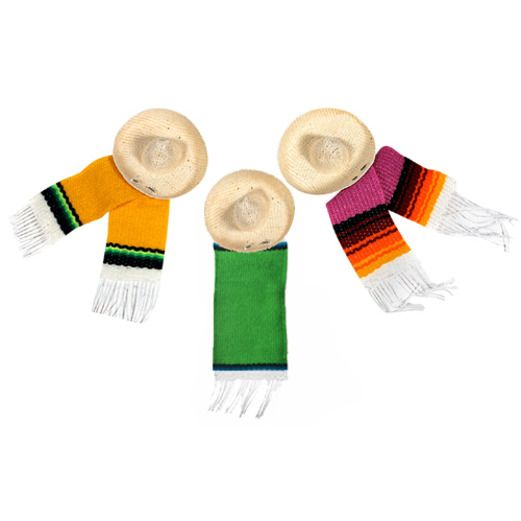 "Cinco de Mayo Decorations 2.5"" Sombrero with Serape Image"