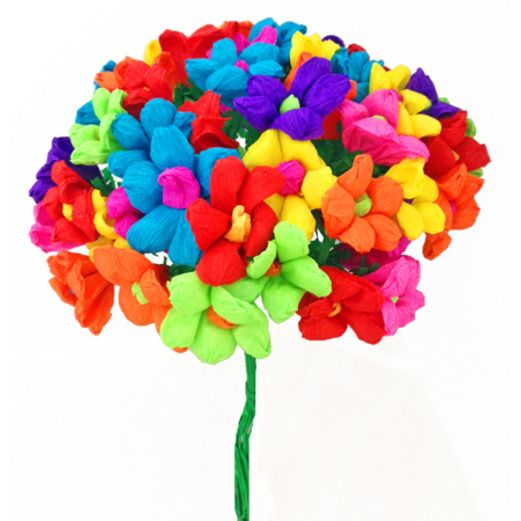 Mexican paper flowers mexican party supplies at amols fiesta terecitas flowers mightylinksfo