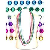 "Cinco de Mayo Party Wear 48"" Metallic Bead Necklace Image"