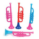 "Birthday Party Favors & Prizes Plastic Trumpets 13"" Image"