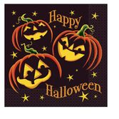 Halloween Table Accessories Pumpkin Grin Luncheon Napkins Image