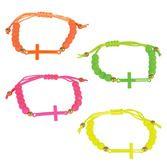 Favors & Prizes Neon Cross Bracelets Image
