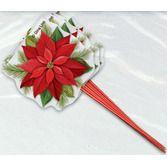 Christmas Favors & Prizes Poinsettia Plaid Picks Image