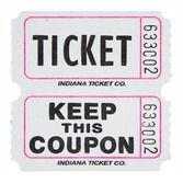 Tickets & Wristbands White Double Ticket Roll Image