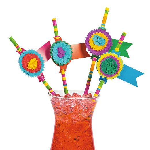 Fiesta Table Accessories Fiesta Party Paper Straws Image