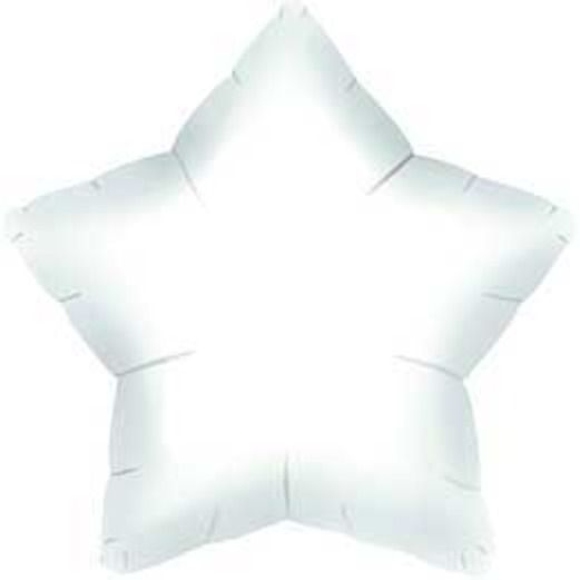 New Years Balloons White Star Mylar Balloon Image