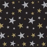 New Years Decorations Gold and Silver Star Backdrop Image