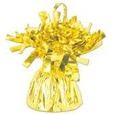 Balloons Yellow Metallic Balloon Weight Image