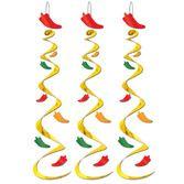 Cinco de Mayo Decorations Chili Pepper Whirls Image