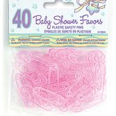 Baby Shower Favors & Prizes Pink Baby Pins Image
