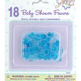 Baby Shower Favors & Prizes Crystal Blue Pacifiers Image