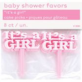 "Baby Shower Favors & Prizes ""It's A Girl"" Picks Image"