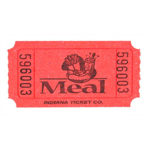 Red Meal Ticket Roll