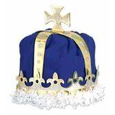Mardi Gras Hats & Headwear King's Crown Blue Velour Image