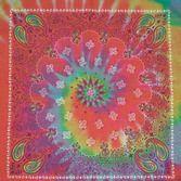 60s & 70s Party Wear Tie Dye Paisley Bandana Image