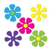 Decorations / Cutouts Mini Retro Flower Cutouts Image