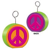 60s & 70s Decorations Peace Sign Photo Holder Image