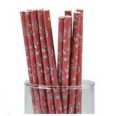 Western Table Accessories Bandana Print Paper Straws Image