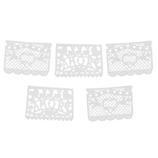 Wedding Decorations Amor White Papel Picado Banner Image