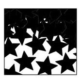 New Years Decorations Black Metallic Stars Confetti Image