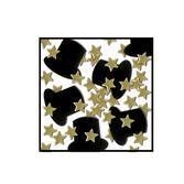 Confetti Black Top Hats and Gold Stars Confetti Image